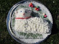 Epres-joghurtos bárány torta