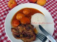 Grillezett csirkecomb barackmártással