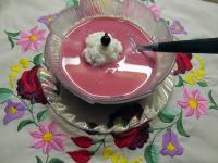 Erdei gyümölcskrémleves tejberizsgombóccal