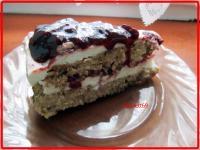 Áfonyás köles torta