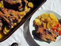 Mézes-mustáros sertés sült