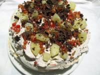 Emeletes Pavlova torta