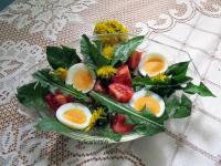 Tavaszi pitypang saláta