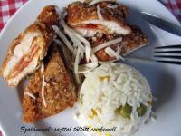 Szalámival-sajttal töltött csirkemell
