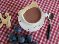 Fahéjas szilvakrém leves
