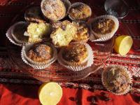 Mazsolás túrós muffin