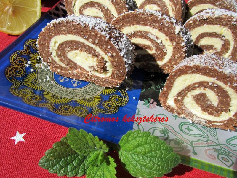 Citromkrémes keksztekercs