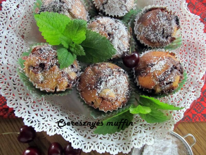 Cseresznyés muffin