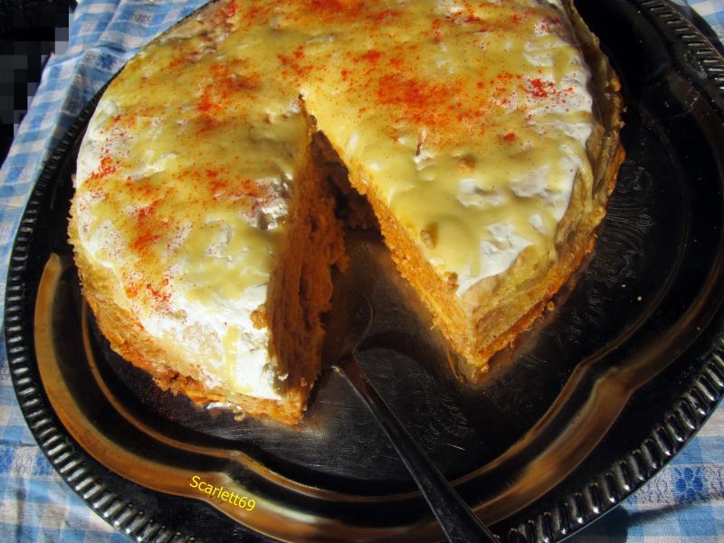 Hortobágyi húsos palacsinta torta