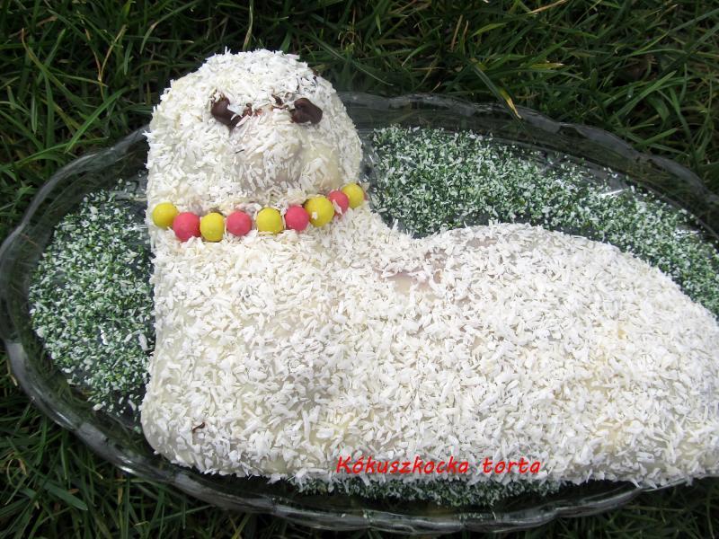 Kókuszkocka torta