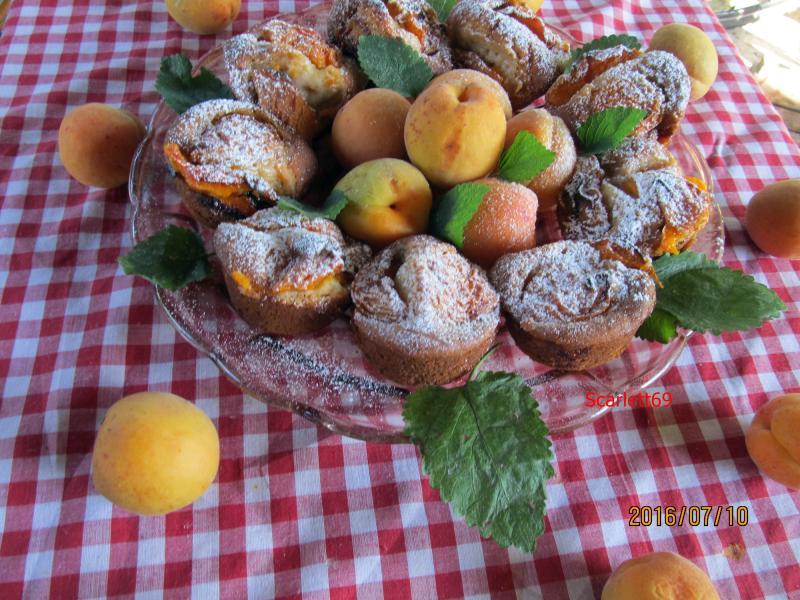 Kajszis muffin