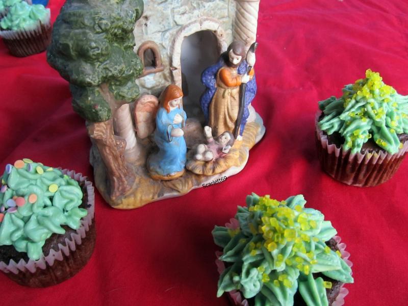 Karácsonyfa muffin