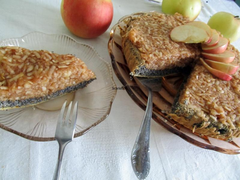 Mákos almatorta