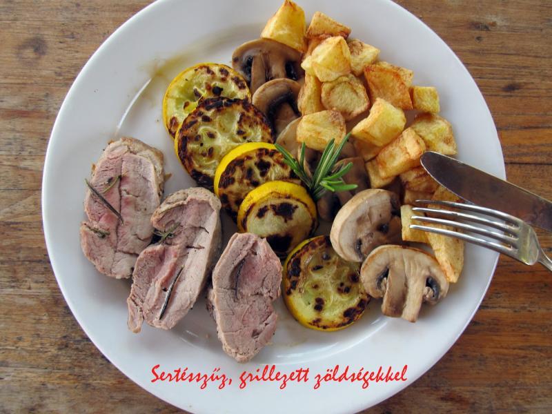 Sertésszűz grillezett zöldségekkel