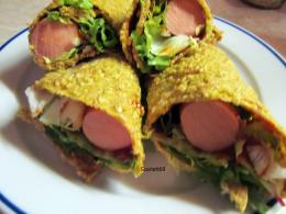Tortilla hot-dog