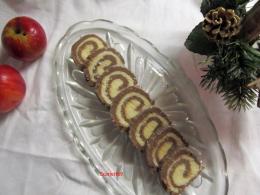 Keksztekercs mézeskalácsból