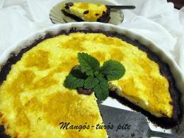 Mangós-túrós pite
